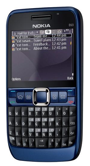 Ультрамариново-синий Nokia E63