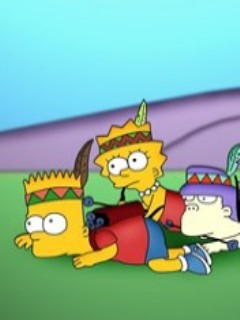 Simpson Bart  Lisa Indian